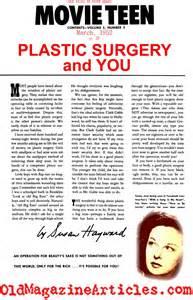 Plastic Surgery Magazine Articles