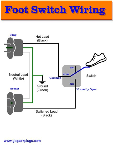 Throw Switch To Schematic Wiring Diagram by Diy Foot Switch Gtsparkplugs