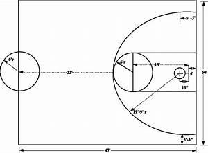 Paint Basketball Court Lines Marking Pattern Stencil Kit
