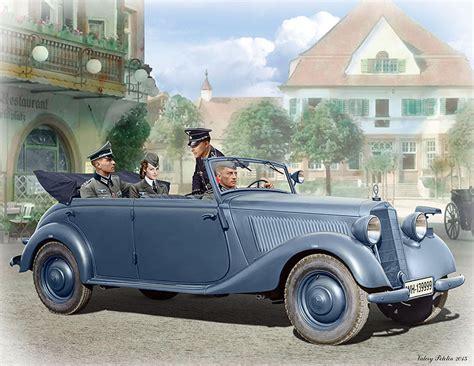 German Military Car, Type 170v, Tourenwagen With Crew, Ww