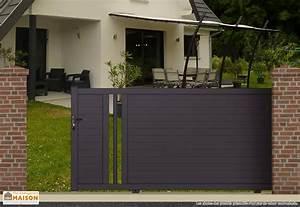 Portail De Maison : portail coulissant et portillon int gr portillon design ~ Premium-room.com Idées de Décoration