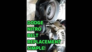 Dodge Nitro Serpentine Belt Replacement