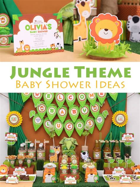 Baby Shower Safari Theme by Jungle Theme Baby Shower Ideas