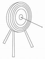 Archery Coloring Target Template sketch template