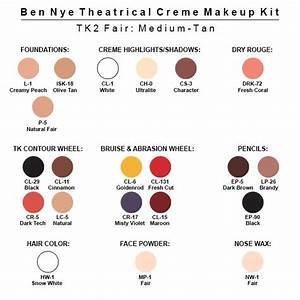 Ben Nye Theatrical Creme Kit  Norcostco