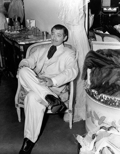 """Clark Gable on the set of """"Gone With The Wind"""" 1939"""