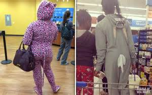 People Wearing Pajamas at Walmart