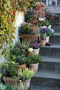 Blumen Für Garten : garten deko ideen die garten oder haustreppe mit blumen dekorieren ~ Frokenaadalensverden.com Haus und Dekorationen