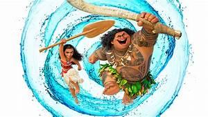Moana And Maui Water Swirl UHD 8K Wallpaper Pixelz