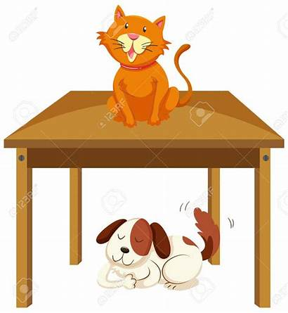 Under Table Clipart Cat Clipground Dog