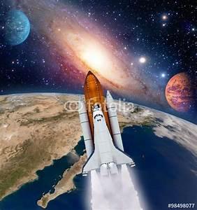 """Shuttle rocket ship launch milky way galaxy mars planet ..."