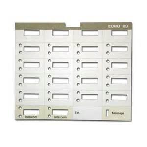 avaya phone template 10 at t lucent avaya partner 18d eurostyle paper labels 18 button display phone ebay