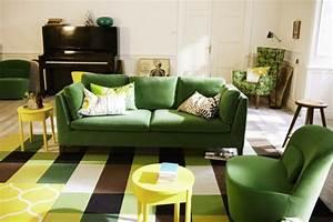 Canapé Vert Ikea : 32 id es canap moderne pour le salon ~ Teatrodelosmanantiales.com Idées de Décoration