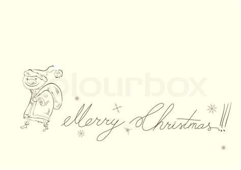 template for card with inscription merry christmas stock vector colourbox