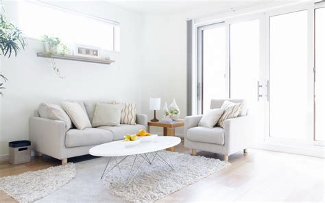 Ideas To Decorate A Living Room With White Living Room Set
