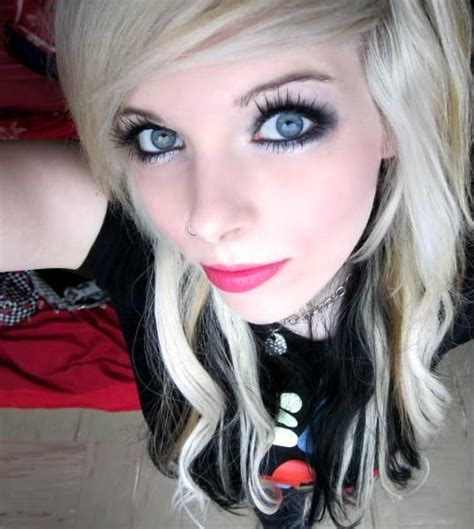 Ira Vampira Scene Queen Emo Girl Blond Black Hair