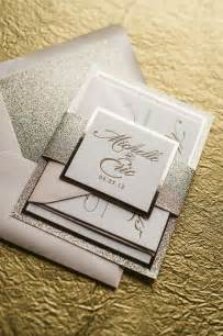 wedding invitation packages abigail suite fancy glitter package wedding invitation with monogram blush and gold