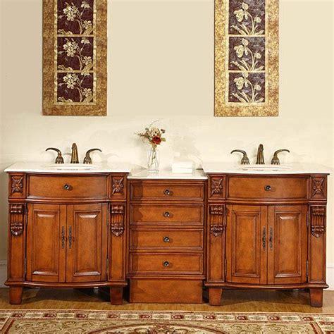 silkroad exclusive 84inch double sink cabinet bathroom