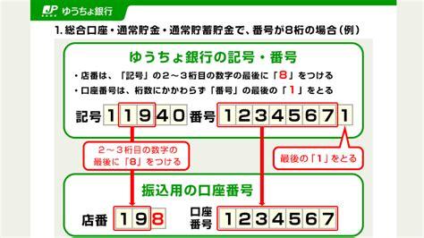 ゆうちょ 銀行 口座 番号