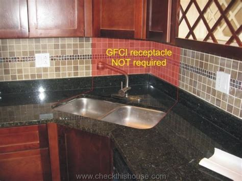 kitchen sink outlet kitchen gfci receptacle and other electrical requirements 2805