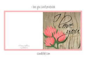 I Love You Card Printable Free