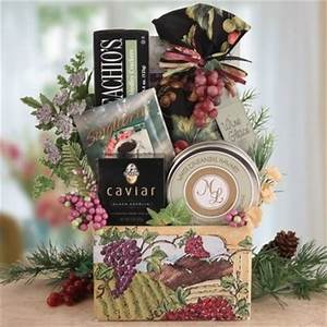 A Vineyard Country Christmas Wine Themed Gift Basket Food