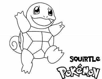 Pokemon Coloring Squirtle Water Printable Updated Pdf