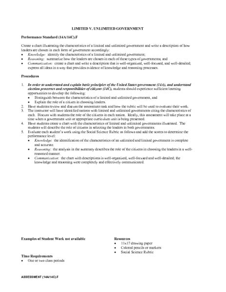 Limited And Unlimited Government Worksheet Free Worksheets Library  Download And Print