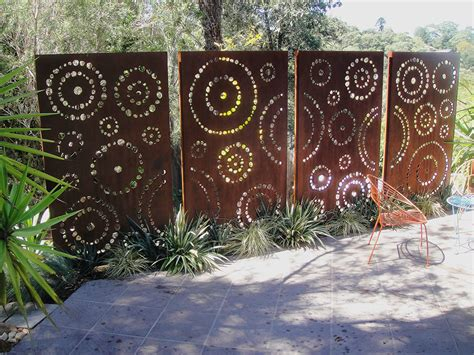 custom cut metal panels garden laser cut screen