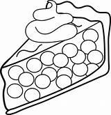 Coloring Cream Whipped Ice Sandwich Template Piece Topping Trinken Essen Pie Malvorlagen Cherry sketch template
