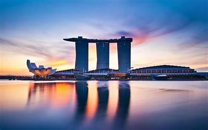 Singapore Marina Bay Wallpapers Places 4k 1417