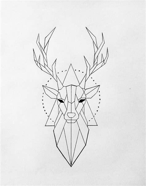 dessin animaux geometrique cerf