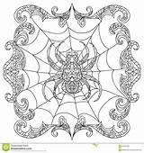 Coloring Chandelier Spider Getcolorings Halloween Zentangle sketch template