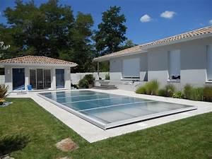 Poolabri abri piscine plat relevable for Piscine avec liner gris clair 16 poolabri abri piscine plat relevable