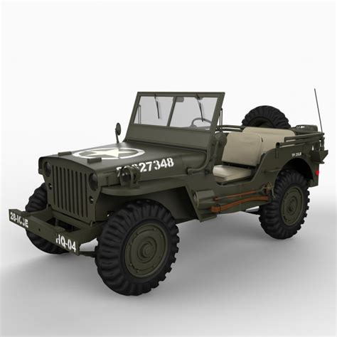 jeep models willys jeep 3d model cgstudio