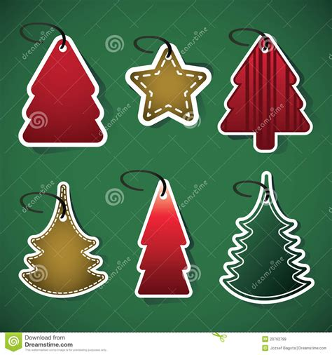 christmas tree price tags royalty free stock images