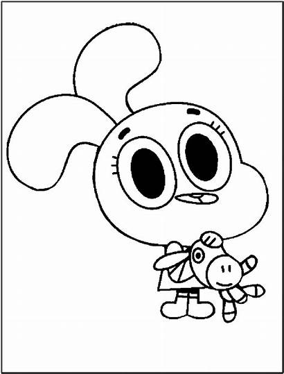 Gumball Coloring Amazing Pages Printable Sheets