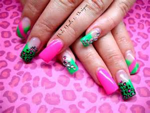 Pink and green nail designs best auto reviews