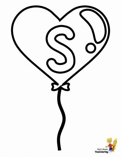 Coloring Pages Alphabet Easy Valentine Number Valentines