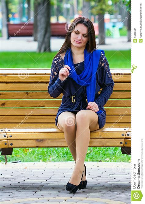 Girl Sitting In The Park Stock Image Image Of Casual