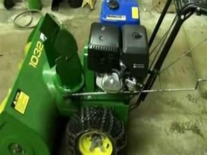 John Deere 1032 Snowblower Repair  U0026 Modification Video
