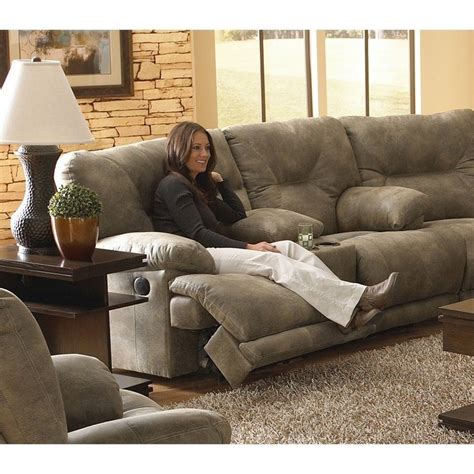 Catnapper Reclining Sofa Voyager by Catnapper Voyager Lay Flat Reclining Console Loveseat In