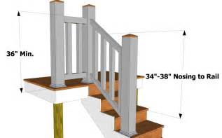 Deck Railing Post Height by 2009 Irc Code Stairs Thisiscarpentry