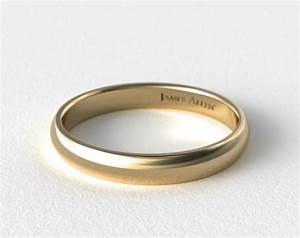 4mm low dome wedding ring 14k yellow gold james allen for James allen mens wedding rings