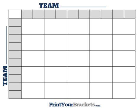 printable nfl football  square grid office pool