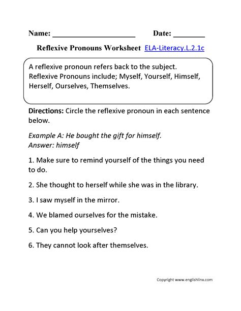 pronoun worksheets second grade worksheets for all