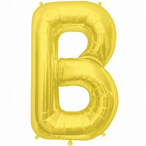 gold letter b 16 inch foil balloon With 16 inch gold letter balloons
