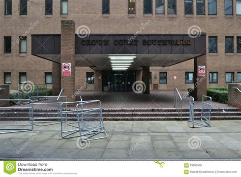 southwark crown court london editorial photo image