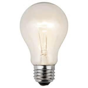 a19 clear transparent bulbs e26 medium base box of 25