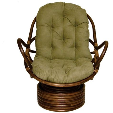 international caravan rattan coil base swivel rocker